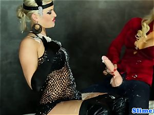 domina bukkake all girl boning at gloryhole