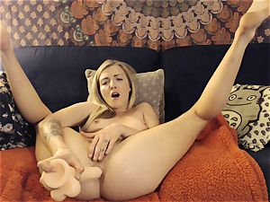 Karla Kush spraying buttfuck ejaculation from Home