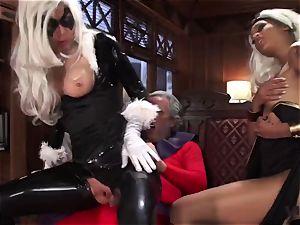 Vivid.com - trio super Villains have a naughty threeway