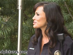 busty cop Lisa Ann gives out her penis punishment