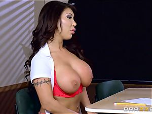 busty honey Angelica Taylor boinked by her teacher