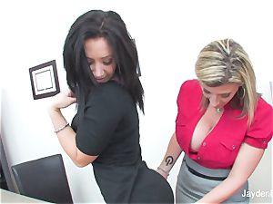 Jayden Jaymes sates her dude big-chested boss Sara Jay
