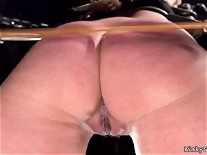 super-hot booty victim gets double penetration dildo boinking