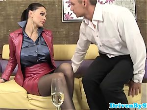 huge-titted euro cockslut Aletta Ocean analized in trio