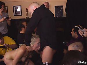 meaty ass light-haired dp plowed in public bar