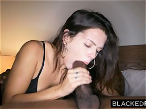 BLACKEDRAW cuckold girlfriend hooks up with dark-hued stud