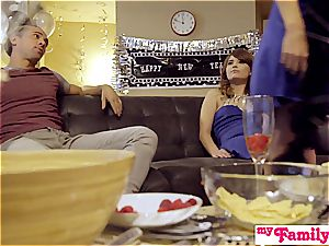 MyFamilyPies- bro And step-sister penetrate Into fresh year