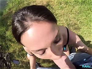 chesty fisherwoman Anissa Kate gets smashed in tent