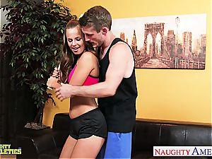 edible Jillian Janson takes rock-hard man rod in her raw snatch