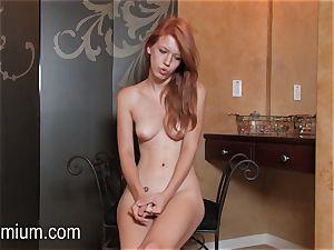 Pepper Kester displays her assets at an interview