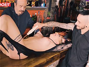 nubile platinum-blonde gets humiliated in harsh bdsm lovemaking venture
