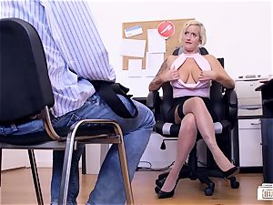 booties BUERO - German cougar in office MMF threesome