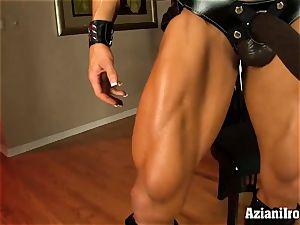 freak sport model with enormous black belt cock