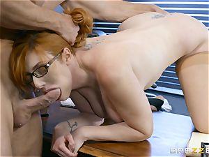 schlong thirsty Lauren Phillips ravaged in her ginger cootchie