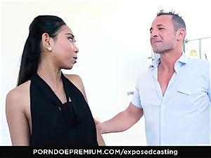 uncovered casting - chinese babe likes sizzling FFM 3some