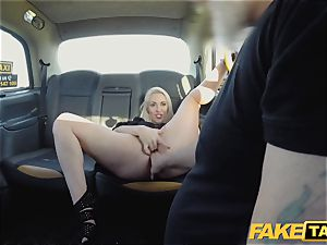 faux taxi towheaded mummy Victoria Summers fucked in a cab