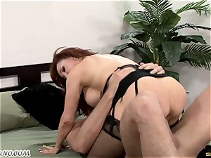 youthful dude fucks his stepmother magnificent Vanessa with meaty bosoms