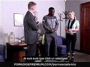 porn ACADEMIE - ass-fuck three way with towheaded schoolgirl