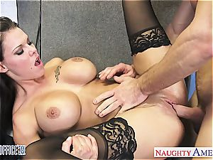 huge-titted office stunner Peta Jensen romping