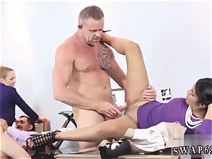 gang booty internal ejaculation and cougar intercourse party hd Bring Your buddy s daughter To Work Day