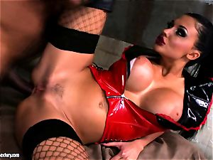 Lusty sexy Aletta Ocean gets anally ravaged she couldn't stop bellowing