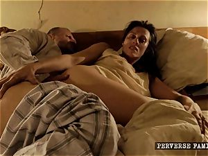 pervy step-sister attempting assfuck with her brother