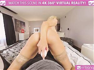 VRBangers.com-MILF is wedging a magic wand in her vulva