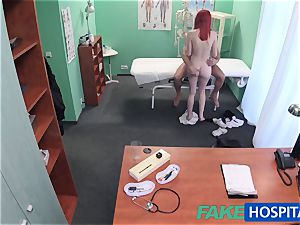 FakeHospital adorable redhead rails medic for cash