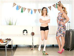Kristen Scott gets private with steaming stepmom Cherie Deville