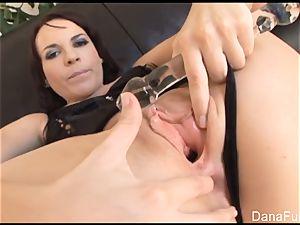 Dana gets her culo jammed with hefty dark-hued meatpipe