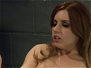Lexi Belle and Misty Dawn doing a jail showcase