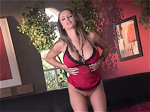 Jenna Presley takes it off leisurely to display off her phat mammories and smoking figure